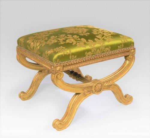 Seating  - 19th century giltwood stool