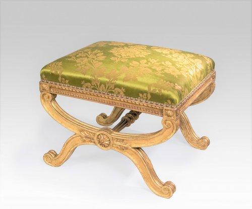 19th century giltwood stool -