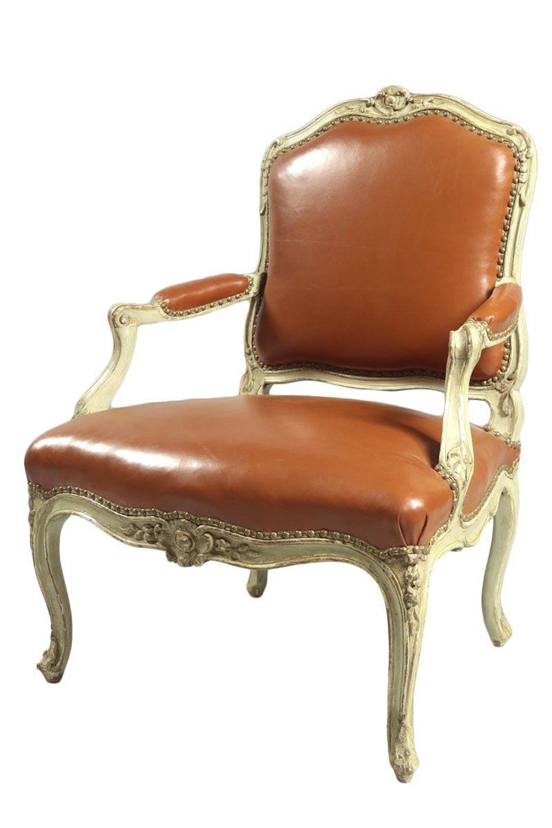 french louis xv fauteuil dossier plat. Black Bedroom Furniture Sets. Home Design Ideas