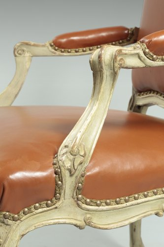 "Seating  - French Louis XV Fauteuil ""à dossier plat"""