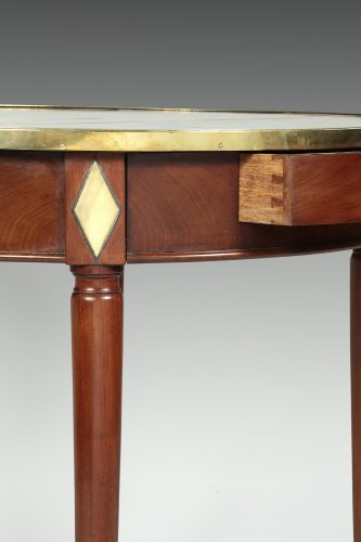 "Late 18th century mahogany ""bouillotte"" table - Seating Style Louis XVI"