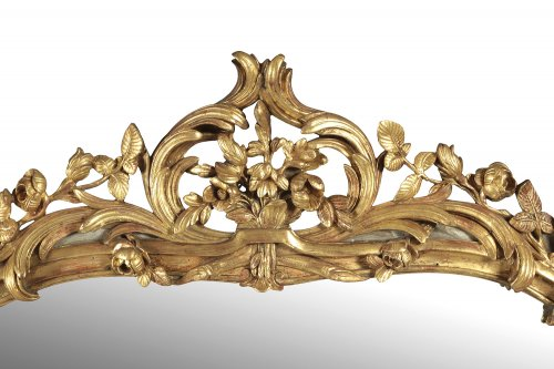 French Louis XV giltwood mirror - Louis XV