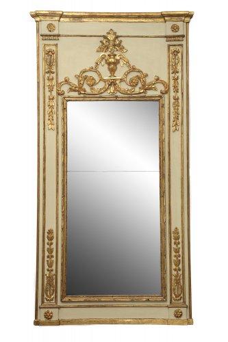 French Louis XVI Pier glass - Mirrors, Trumeau Style Louis XVI