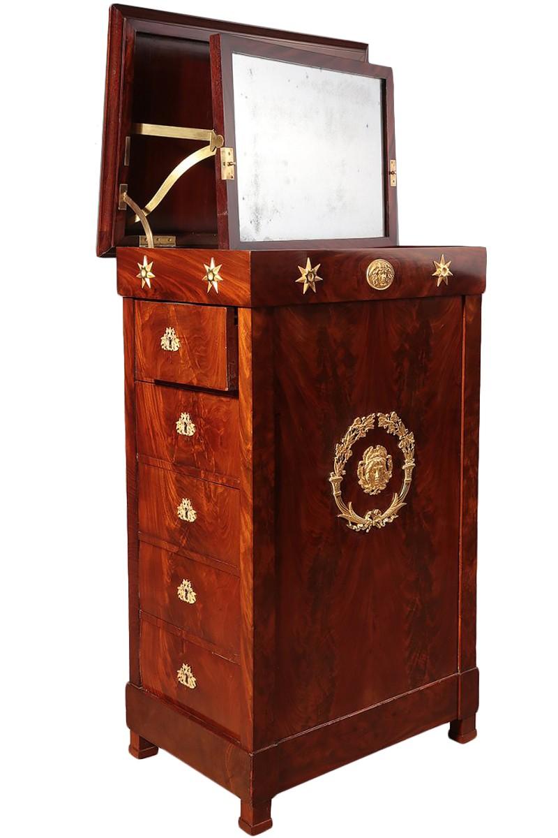 French Mahogany Empire Dressing Table