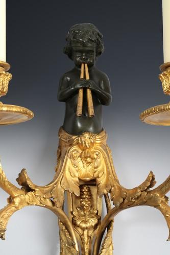 Lighting  - Pair of bronze wall sconces