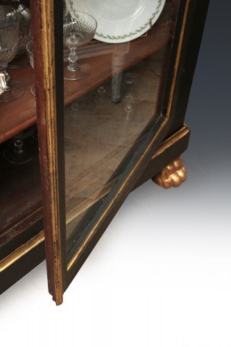 18th century - French late 18th century Blackened Pearwood Showcase