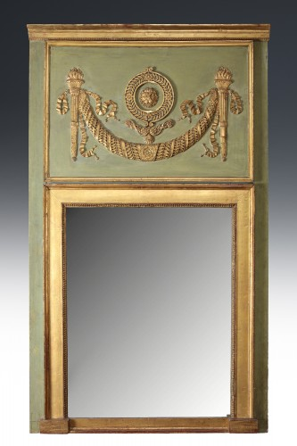 French Consulat period painted Trumeau - Mirrors, Trumeau Style