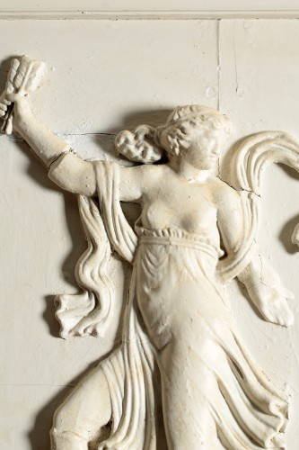 Wooden bas-relief, Love disarmed by the nymphs -