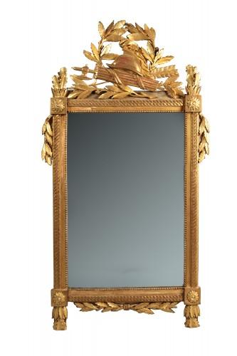 French Louis XVI giltwood mirror - Mirrors, Trumeau Style Louis XVI
