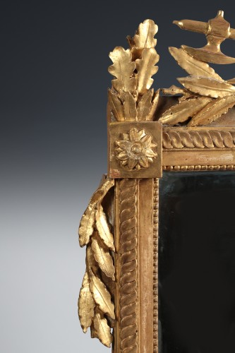 Mirrors, Trumeau  - French Louis XVI giltwood mirror
