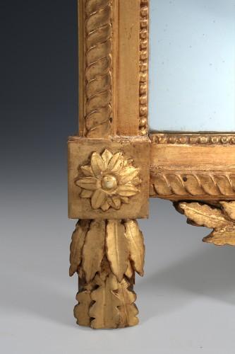 French Louis XVI giltwood mirror -