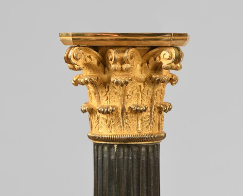 Lighting  - Pair of bronze lamps, mid 19th century