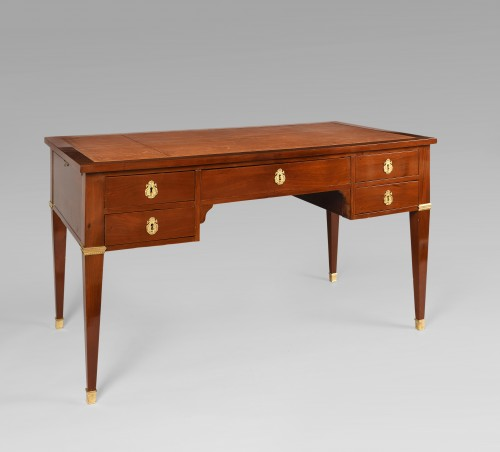 French Bureau plat in Mahogany, Mid 19th century - Furniture Style Restauration - Charles X
