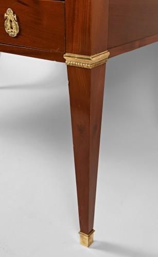 French Bureau plat in Mahogany, Mid 19th century -
