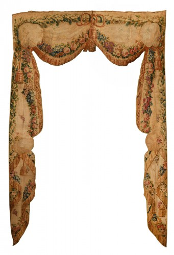 Pair of tapestry doors from Beauvais
