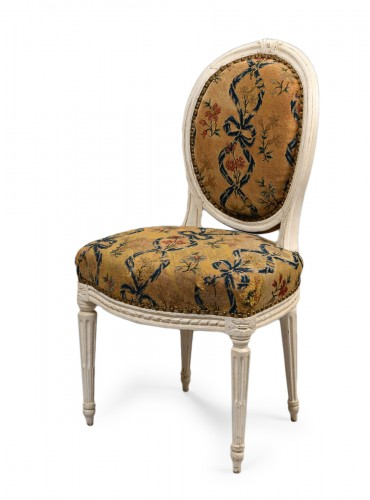 French Louis XVI chair stamped Malbet