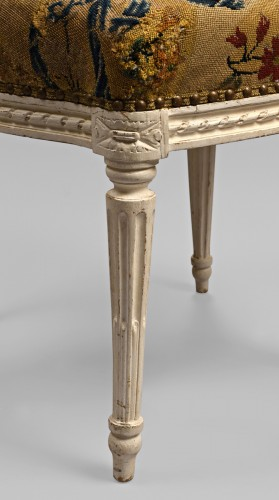 French Louis XVI chair stamped Malbet - Seating Style Louis XVI