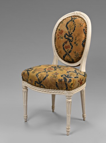 French Louis XVI chair stamped Malbet -
