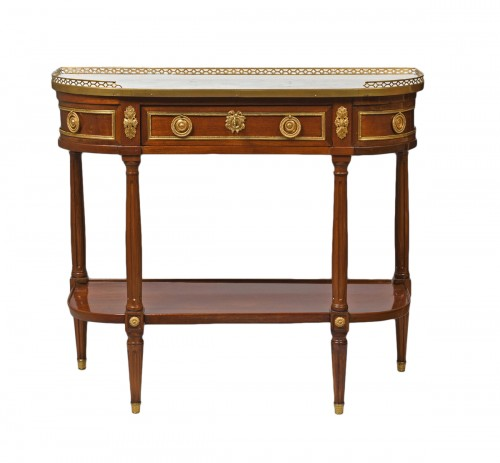 French Louis XVI mahogany console table stamped Mauter