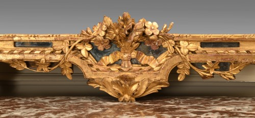 Mirrors, Trumeau  - A Louis XVI Carved Giltwood mirror