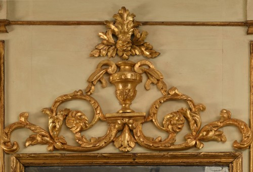 A Lacquered and Painted Wood  Trumeau - Mirrors, Trumeau Style