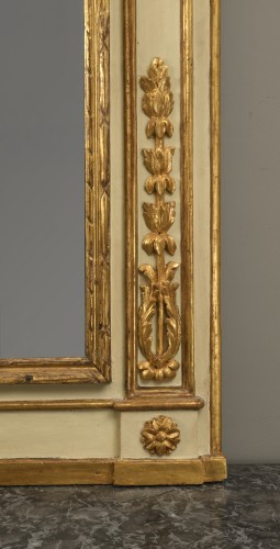 Mirrors, Trumeau  - A Lacquered and Painted Wood  Trumeau