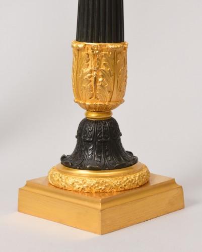 Lighting  - Pair of bronze oil lamps