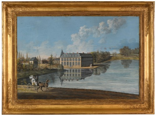 Castle of  Tremblaye, Gouache dated 1832