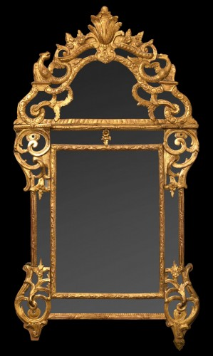 Early 18th century giltwood mirror - French Regence