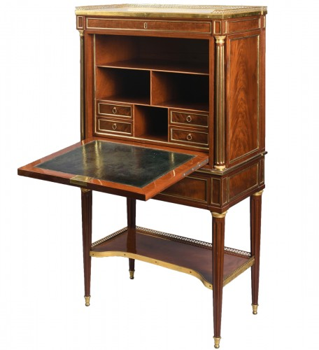 A Late 18th century mahogany fall front Secrétaire by  E. Levasseur