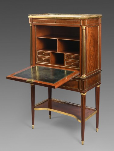 18th century - A Late 18th century mahogany fall front Secrétaire by  E. Levasseur