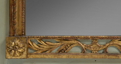 Mirrors, Trumeau  - Green and Parcel Gilt Lacquered Pier Glass Mirror
