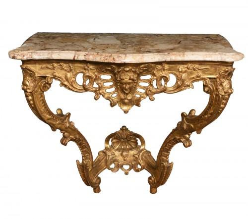 French Louis XVI Giltwood console table