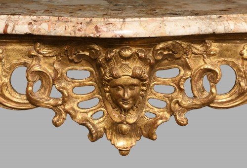 French Louis XVI Giltwood console table - Furniture Style Louis XVI