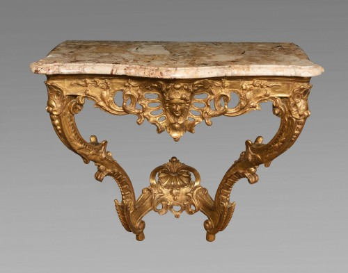 18th century - French Louis XVI Giltwood console table