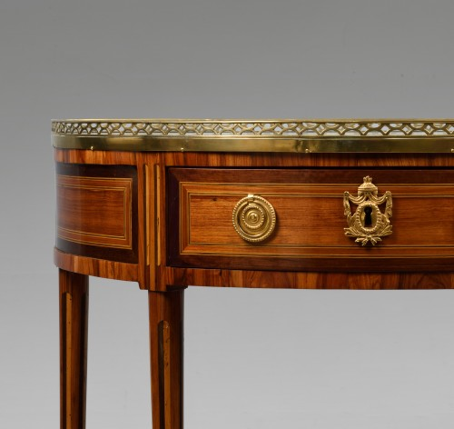 Louis XVI Half Moon Console Stamped by Charles-Louis COSTE - Furniture Style Louis XVI
