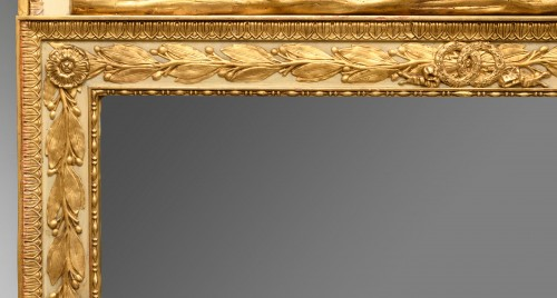 Mirrors, Trumeau  - Directoire trumeau in lacquered and gilded wood