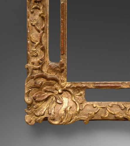 French Régence giltwood mirror - Mirrors, Trumeau Style French Regence