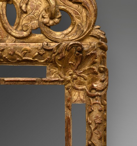 Mirrors, Trumeau  - French Régence giltwood mirror