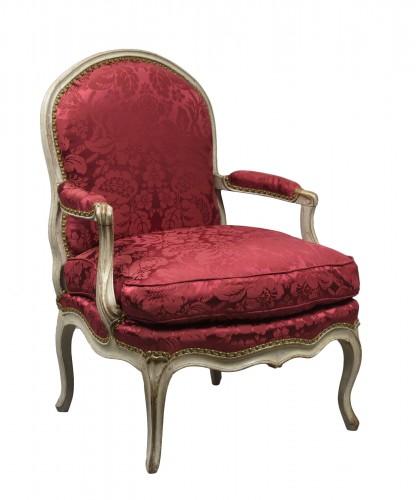 Louis XV armchair stamped Noël Baudin
