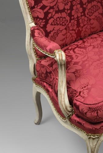 Seating  -  Louis XV armchair stamped Noël Baudin
