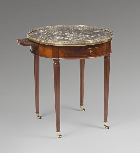 Louis XVI hot bouillotte table - Furniture Style Louis XVI