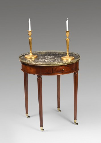 Louis XVI hot bouillotte table -
