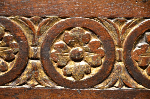 A very fine and rare Tuscan Renaissance parcel-gilt and walnut credenza -