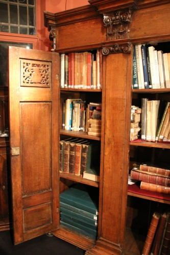 - Beautiful emblazoned germanic bookcase