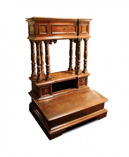 17th Century moulded walnut oratory