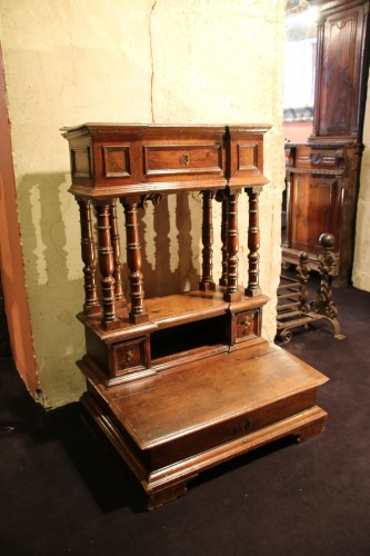 17th Century moulded walnut oratory - Furniture Style