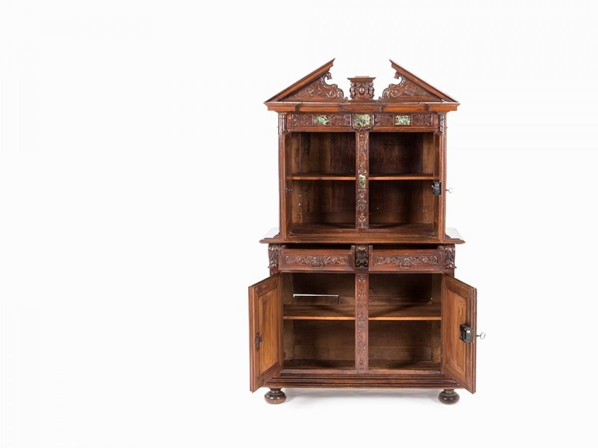 Meuble Ancien Style Henri 4 cabinet bellifontain d'époque henri iv avec incrustations de