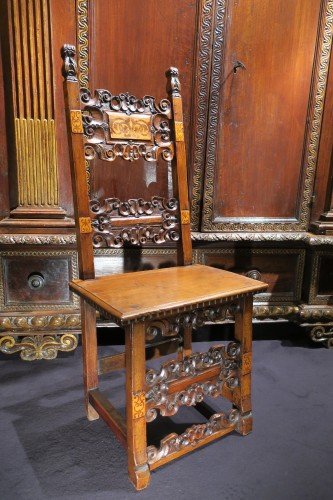 Italian chair of the Renaissance period - Seating Style Renaissance