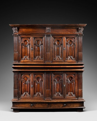 A Renaissance palace wardrobe with perspectival views - Furniture Style Renaissance